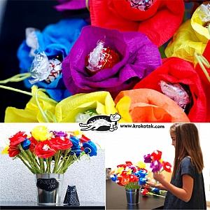 Цветя бонбони за празник – как да си направим