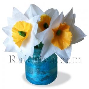 Цвете от тишу хартия – подарък за мама