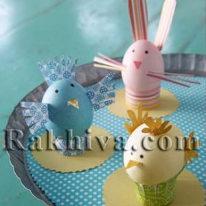 Идеи за Великденски декорации за яйца – от панделки и хартия