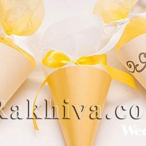 Оригинални сватбени късметчета от органза и опаковъчна хартия