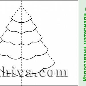 Направи си сам – обемни хартиени картички за Рождество и Нова година