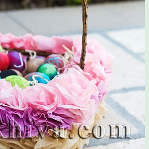 Великденска декорация от тишу хартия
