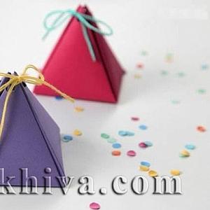 Как се прави опаковка за подарък – хартиена пирамидка