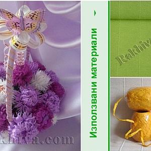 Хартиени цветя. Как се правят хризантеми от крепирана хартия?