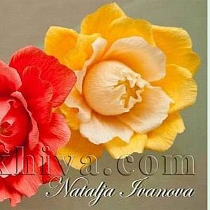 Как се прави: хартиени цветя и букет от бонбони