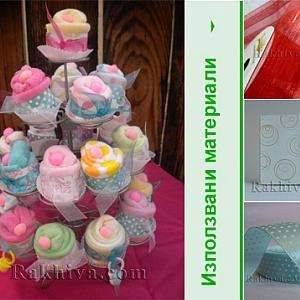 Как се опакова подарък за бебе – бебешки кексчета