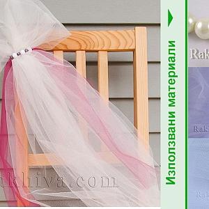Как се прави украса на стол за сватба или кръщене