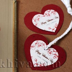 Идея за св. Валентин – направи си сам валентинка-книгоразделител