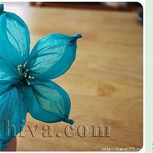 Как се прави красиво хартиено цвете от тишу