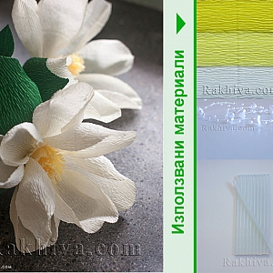 Как се правят хартиени цветя. Магнолия от крепирана хартия
