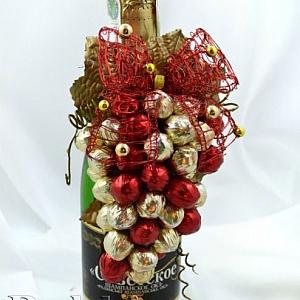 Идеи за коледни декорация на бутилка