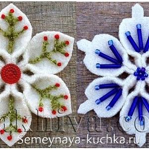 Свежи идеи за коледна декорация със снежинки от филц