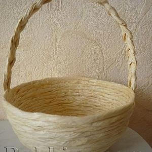 Как се прави кошница от хартиен шнур Туист