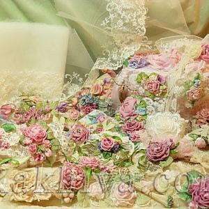 Направи си сам декорация – роза то панделка сатен