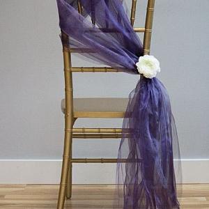 Направи си сам сватбена декорация за стол от тюл или органза
