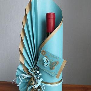 10 свежи идеи как да опаковате бутилка вино за подарък