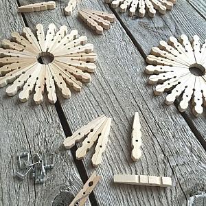 От нищо нещо: Как се прави декорация за дома от дървени щипки