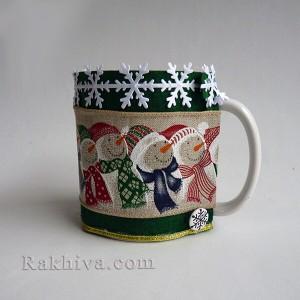 Идея за коледен или новогодишен подарък. Как се прави коледна чаша за подарък.