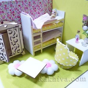 Как се правят мини къщички за кукли – декорация на спалня за кукли