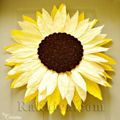 Хартиени цветя: слънчогледи от хартиен шнур туист