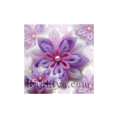 Как се прави декорация за моден аксесоар цвете от органза и перли