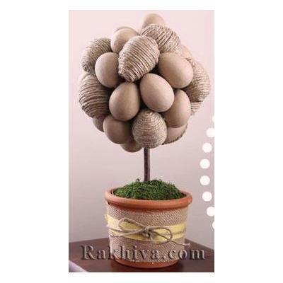 Как се прави Великденска декорация с канап и зебло