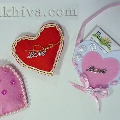 Направи си сам ретро и романтична валентинка-сърце от филц