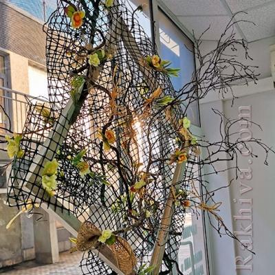 Ракхива на гости Надежда от Bellissimo Art - как се прави пано за украса на витрина на магазин