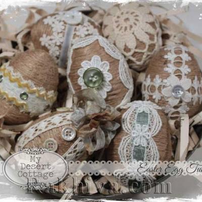 Как се правят винтидж яйца за великденска декорация на дома