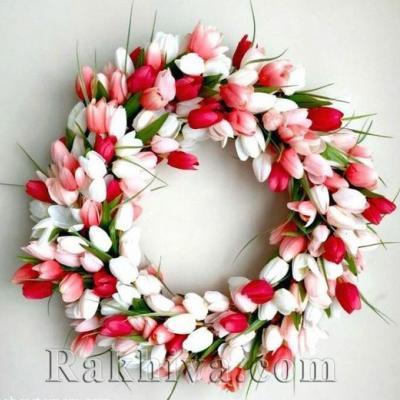 Как се прави пролетен венец от цветя за врата