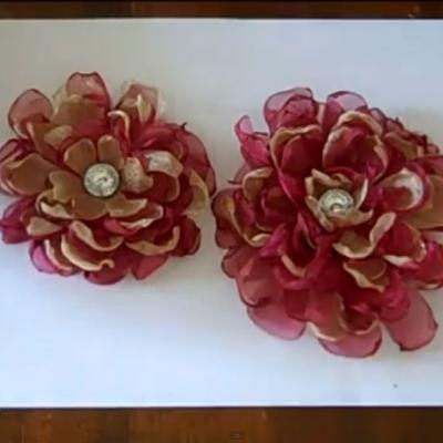 Как се прави цвете от органза
