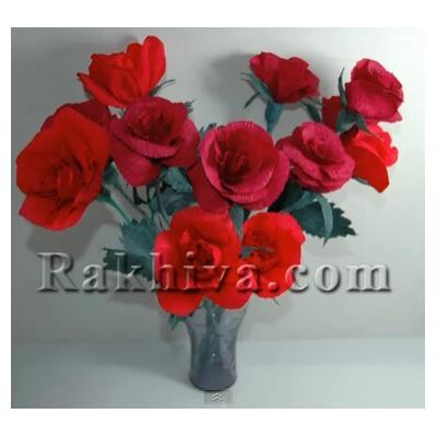 Как се правят от хартия милион алени рози за любовта