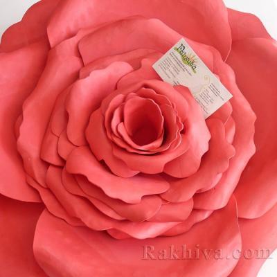 Как се прави цвете за декорация – роза от фоам, гумена хартия