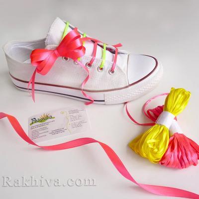 Как се прави декорация за спортни обувки с връзки от панделка сатен