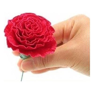 Как се правят хартиени цветя – карамфили от крепирана хартия