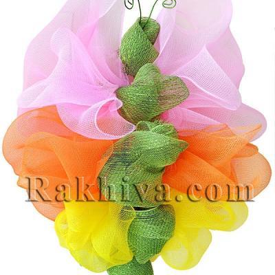 Пролетна аранжировка на витрини и декорация за дома с мрежа за цветя