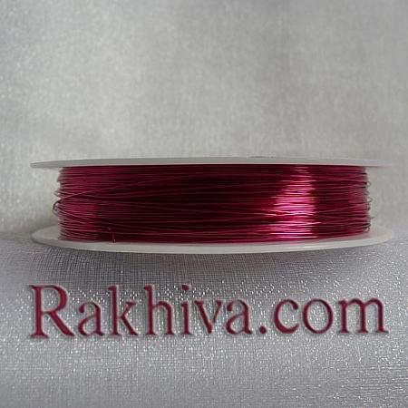 Тел месинг, розово CWIR-0.3MM-11 (0.3мм/ 26м)