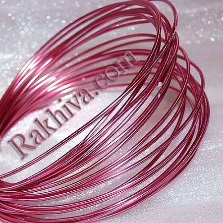 Цветна алуминиева тел, св. розово (1.5мм/ 6м)