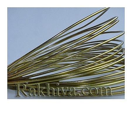 Цветна алуминиева тел, злато (1.5мм/ 6м)