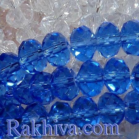 Сваровски кристални,  ръчна изработка (имитация)1, 6x4 мм синьо (GR4X6MMY-24; G02YI0A1)