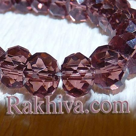Сваровски кристални,  ръчна изработка (имитация), 6x4 мм пепел от рози (G02YI051/G02YI041)