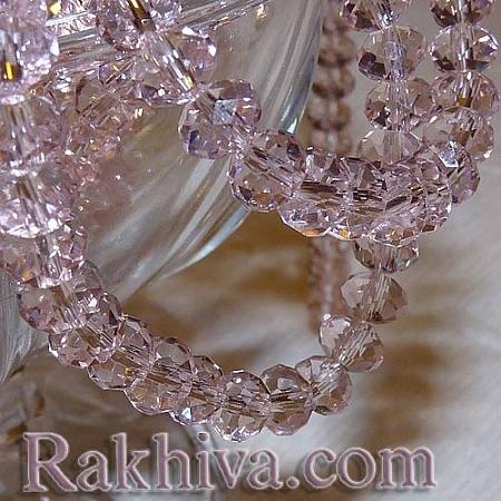 Сваровски кристални,  ръчна изработка (имитация), 6x4 мм розово (G02YI0F1; G02YI021)