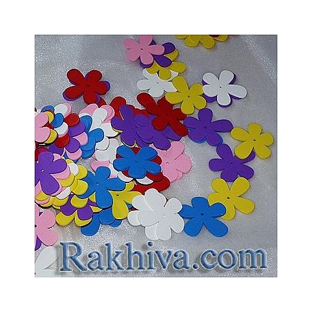 Цветни дървени цветя