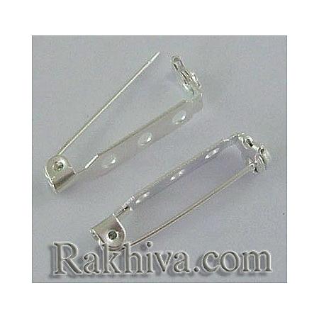 Метална закопчалка - цвят сребро (секретна игла), цвят сребро, 10 бр. (E023Y-S)
