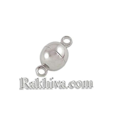 Магнитна метална закопчалка - цвят сребро, цвят сребро,1 бр. (MC019-NF)