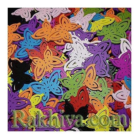 Дървени фигурки - цветни дървени пеперудки TB404Y