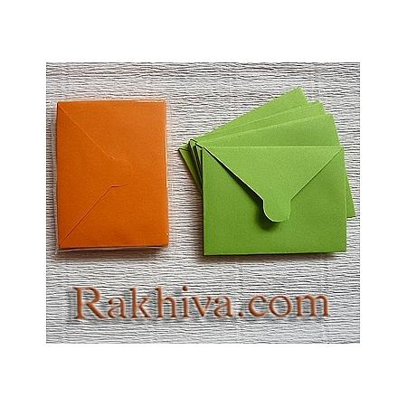 Пликове за малки картички, оранжево (10бр.)