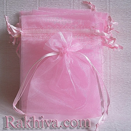 Торбички от органза розово, 5 см/ 7 см, (5/7/8240-1)