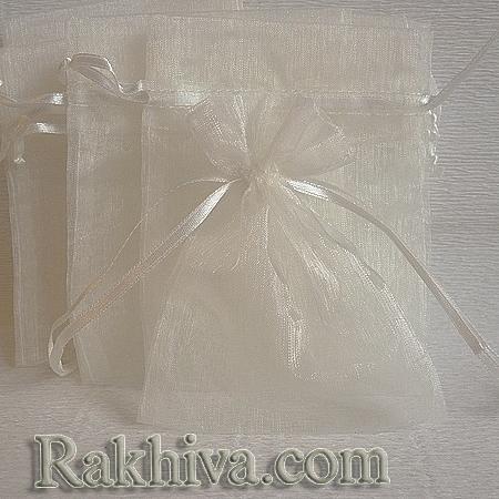 Торбички от органза екрю , 15 см/ 20 см, (15/20/8212)