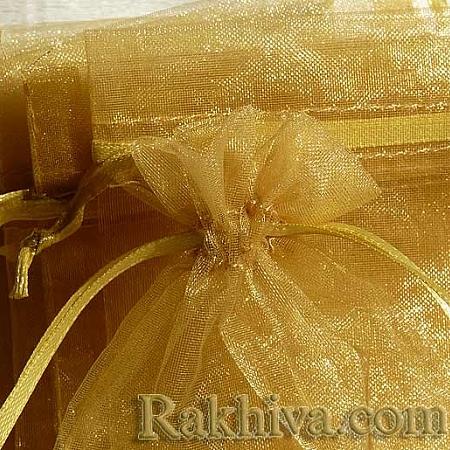 Торбички от органза злато